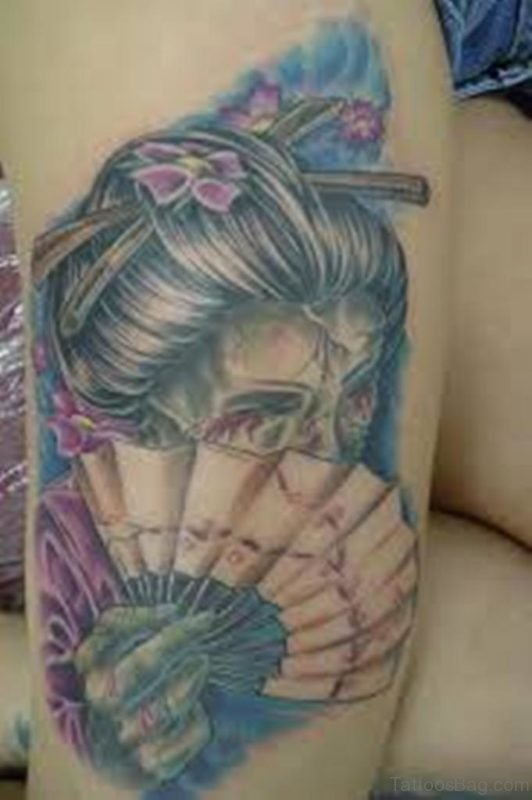 Nice Geisha Tattoo