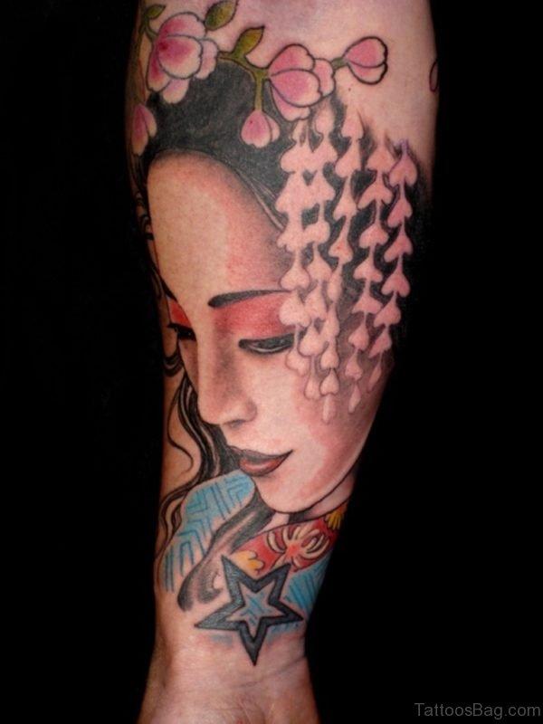 Nice Geisha Tattoo