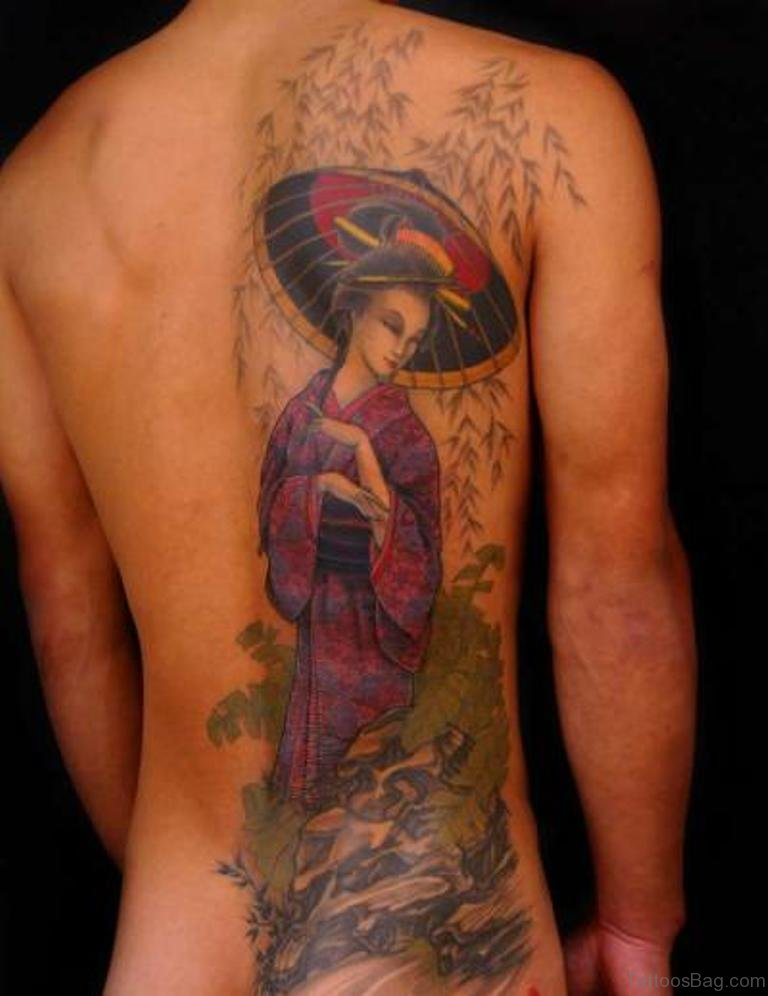 68 exclusive geisha tattoos for back for Tattoos on back
