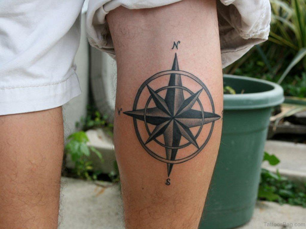 41 stylish compass tattoos for leg