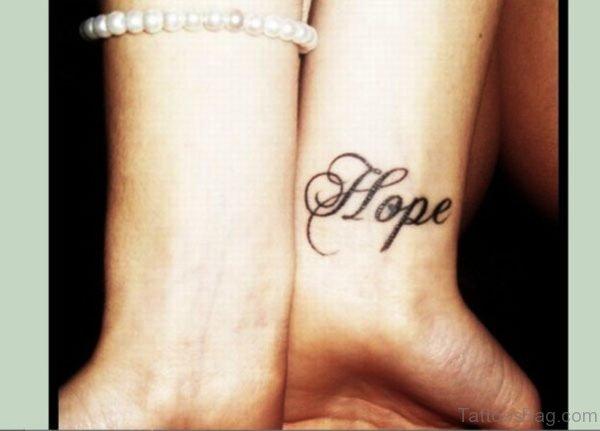 Nice Hope Tattoo On Wrist