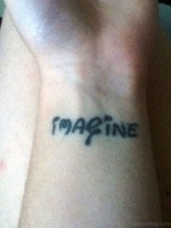 Nice Imagine Tattoo On Wrist