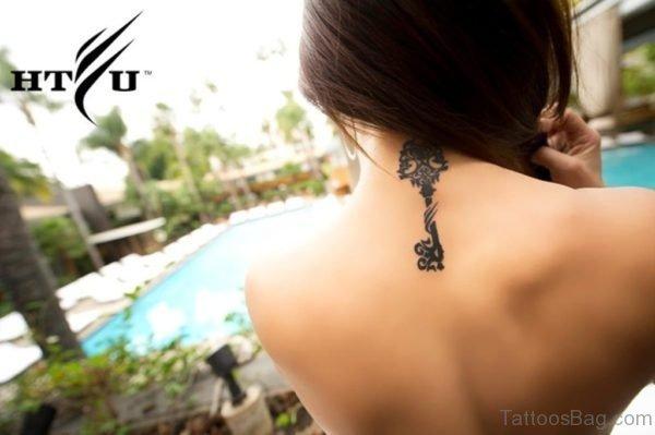 Nice Key Neck tattoo Design