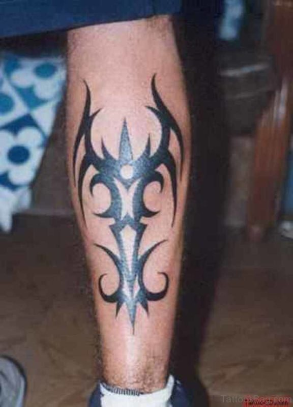 Nice Leg Tribal Tattoo