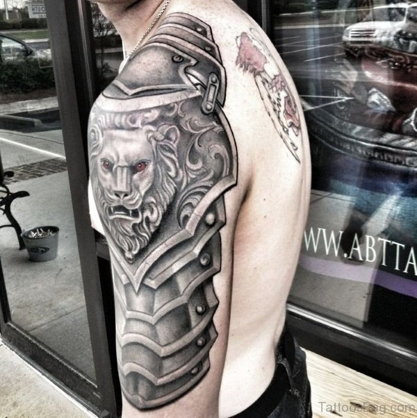 44 Great Armour Tattoos On Shoulder