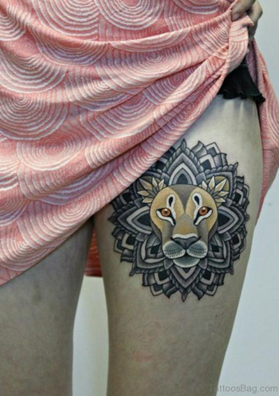 Nice Lion Tattoo