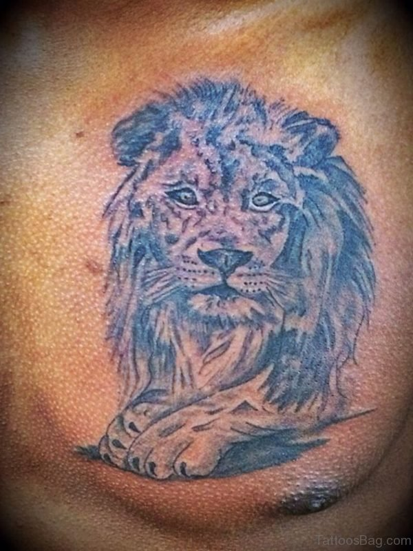 Lion Tattoo On Chest
