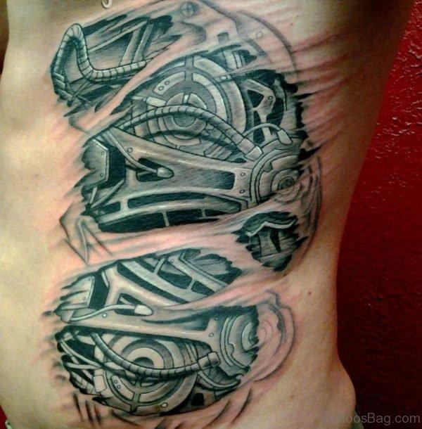 Nice Looking Biomechanical Tattoo