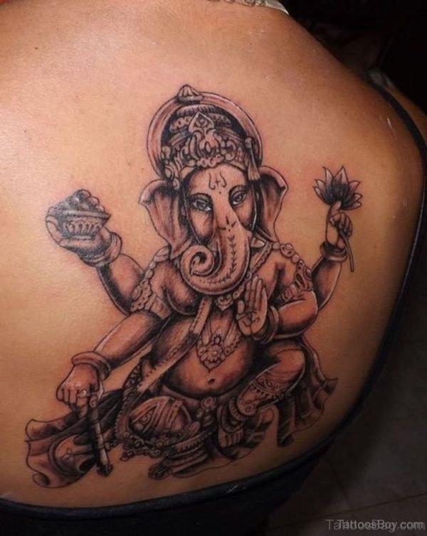 Nice Looking Ganesha Tattoo