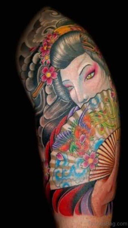 Nice Looking Geisha Tatto