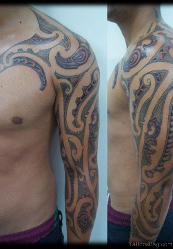 Nice Looking Maori Tribal Tattoo