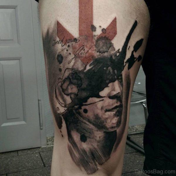 Nice Looking Portrait Tattoo