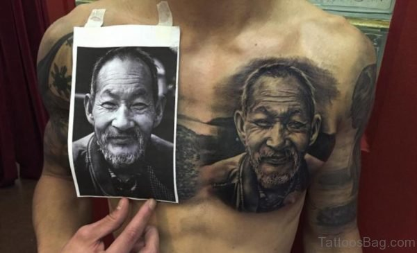 Nice Looking Portrait Tattoo