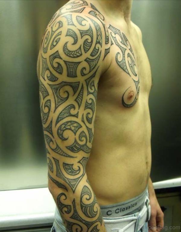 Nice Maori Tribal Tattoo