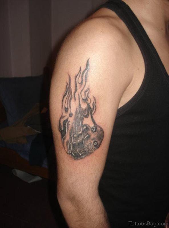 Nice Music Guitar Tattoo