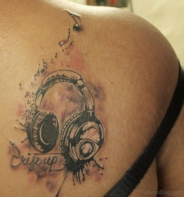 Nice Music Shoulder Tattoo