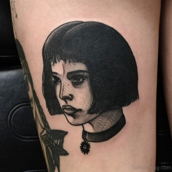 Nice Portrait Tattoo On Thigh