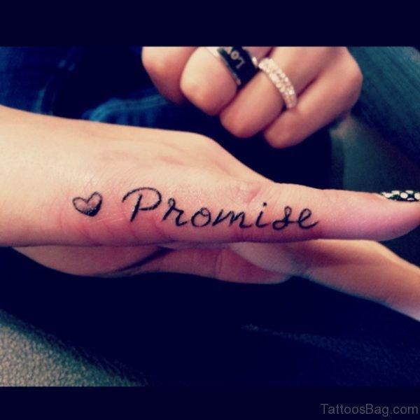 Nice Promise Tattoo Design