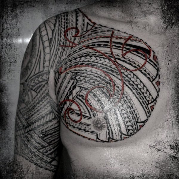 Nice Samoan Desing On Left Shoulder