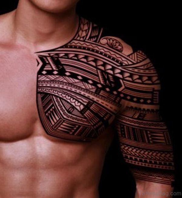 Nice Samoan Tattoo On Right Shoulder