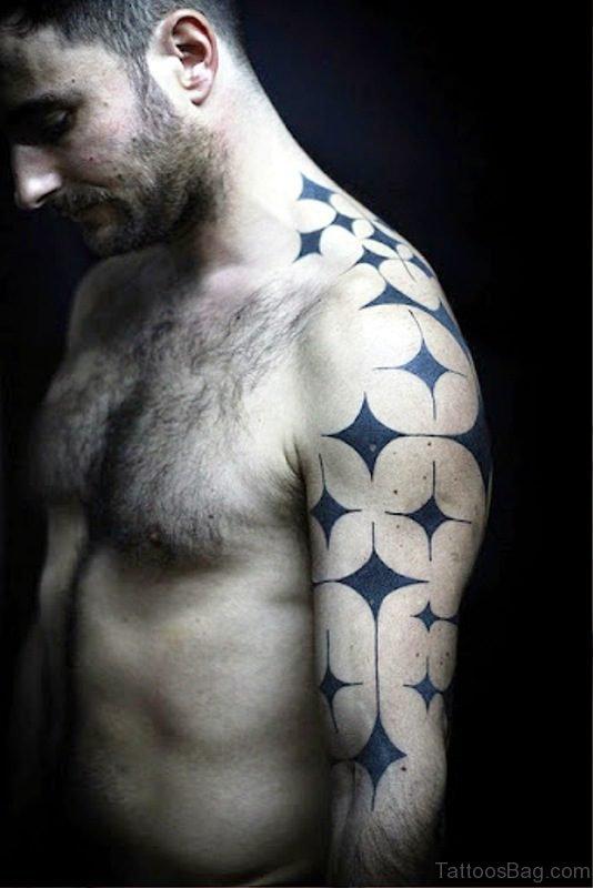 Nice Star Shoulder Tattoo Design