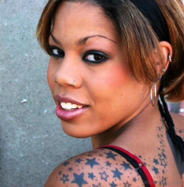 Nice Star Shoulder Tattoo