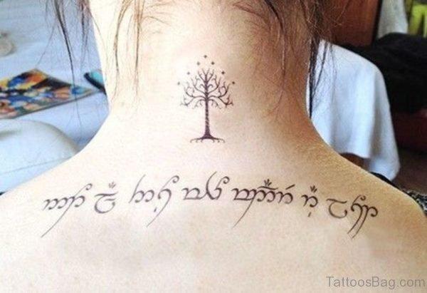 Nice Tree Neck Tattoo