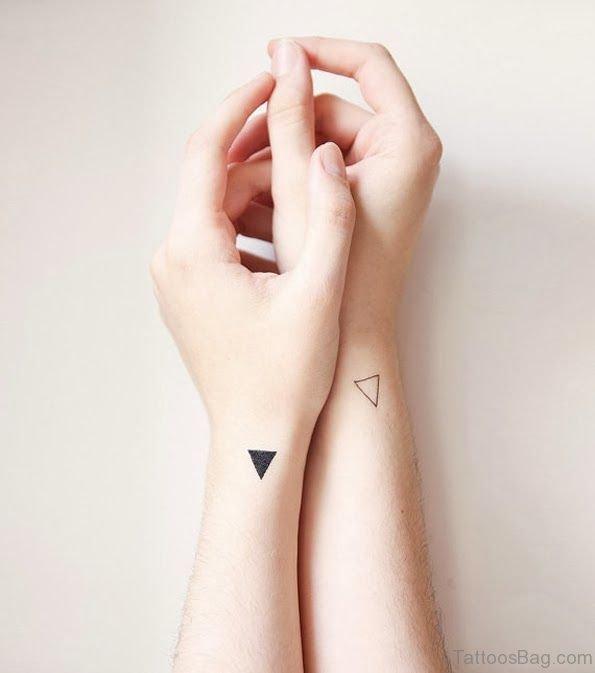 Nice Triangle Tattoo On Wrist
