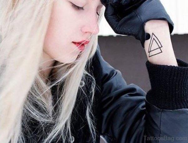 Nice Triangle Wrist Tattoo Design