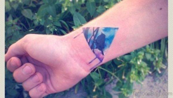 Nice Triangle Wrist Tattoo