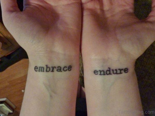 Nice Wording Tattoo