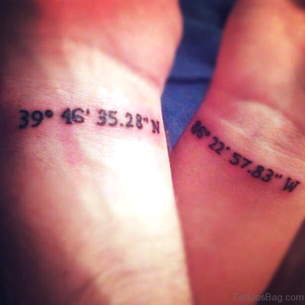 Numbering Wrist Tattoo