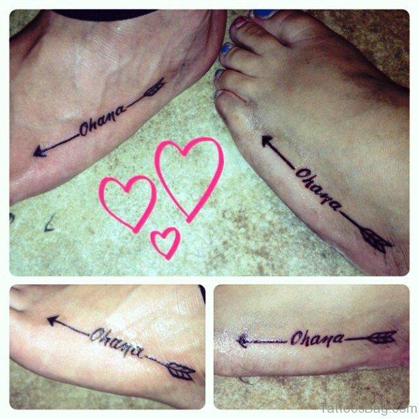 72 great arrow tattoos on foot. Black Bedroom Furniture Sets. Home Design Ideas