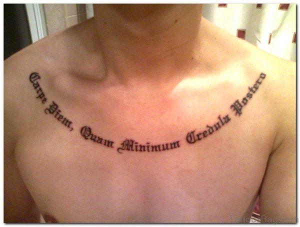 Old English Ambigram Tattoo
