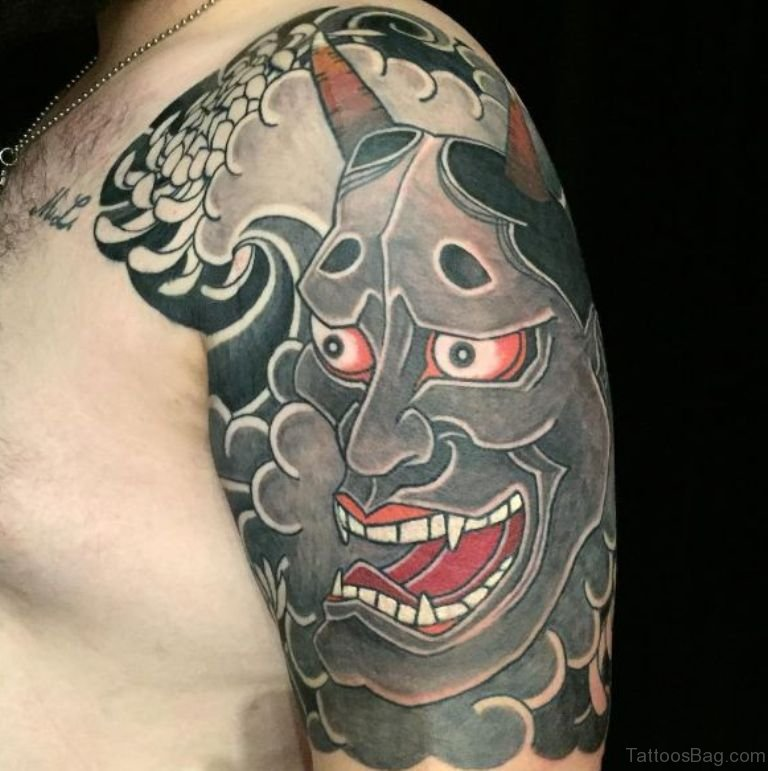 60 gorgeous mask tattoos for shoulder for Oriental tattoo