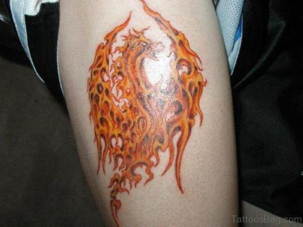 Orange Phoenix Tattoo