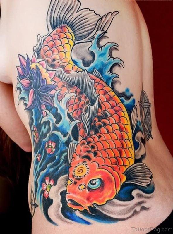 Orange koi Tattoo