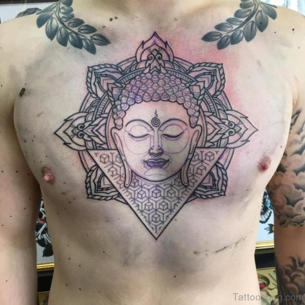 Outline Buddha Tattoo