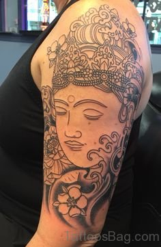 Outline Buddha Tattoo