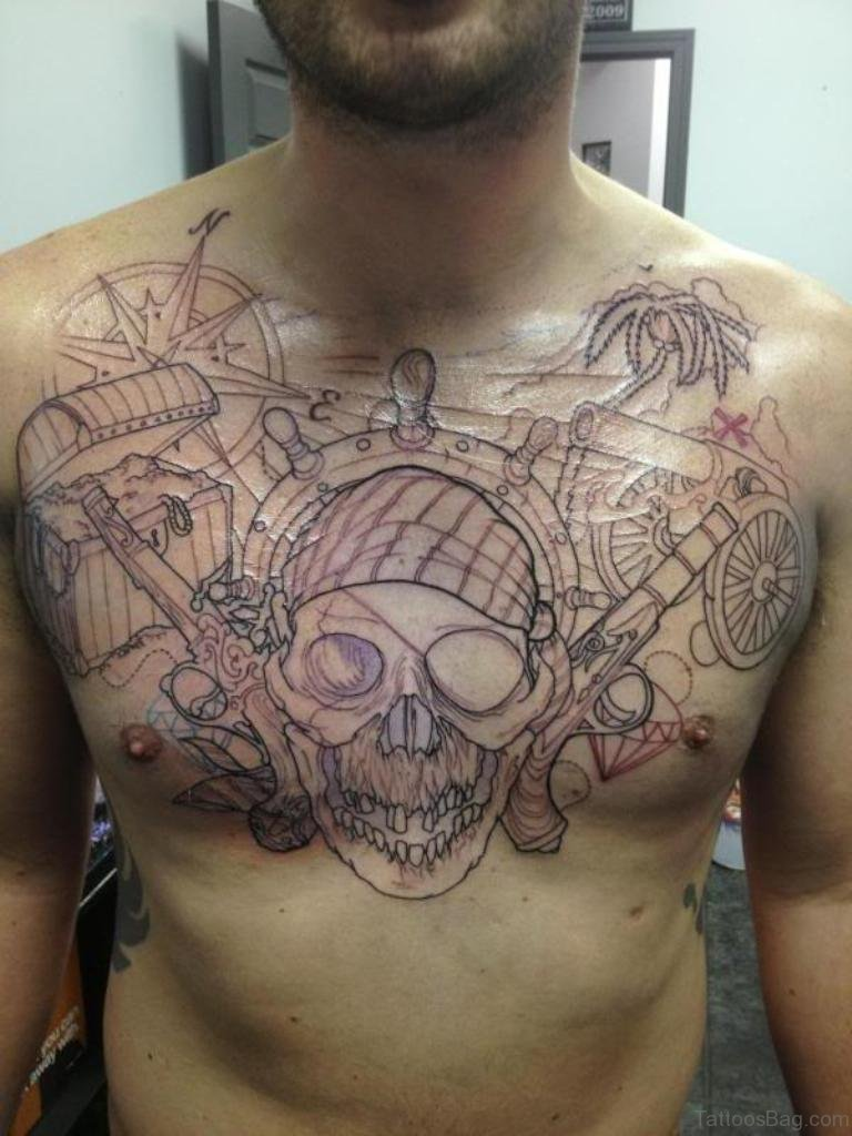 Tattoo Ideas Chest: 51 Attractive Compass Tattoo Design On Chest