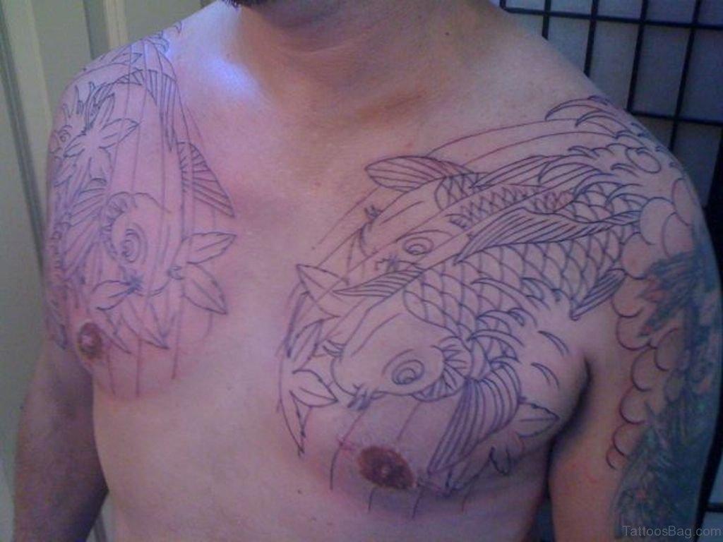 39fc0ea334f9c 48 Magnificent Fish Tattoos Designs On Chest
