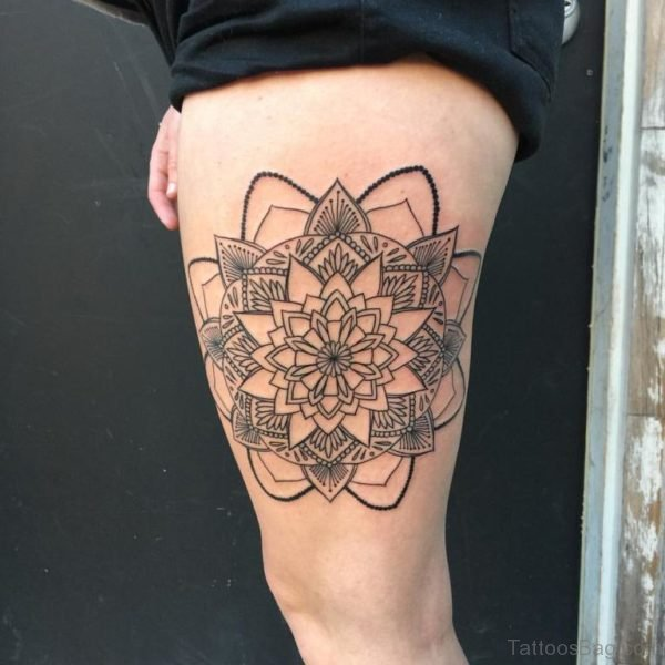 Outline Mandala Tattoo