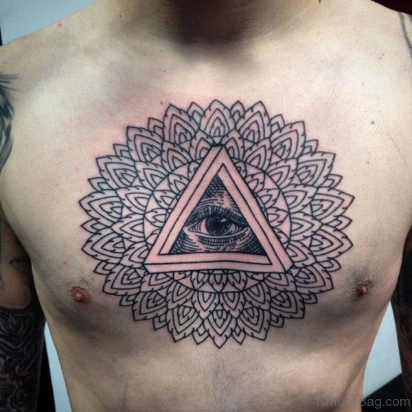 Outline Mandala Tattoo
