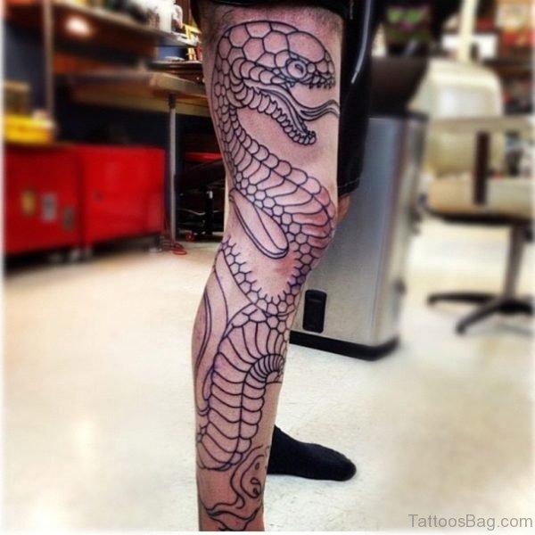 Outline Snake Tattoo