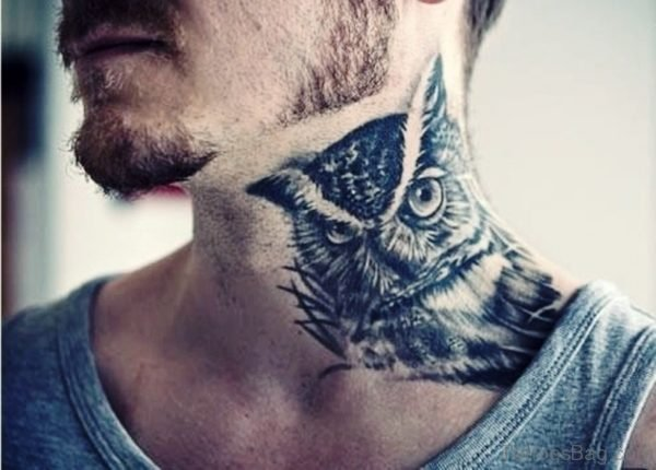 Outstand Owl Neck Tattoo
