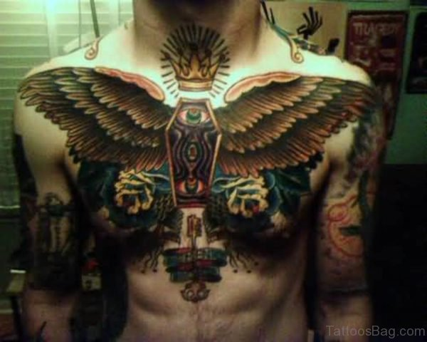 Outstanding Big Wings Tattoo