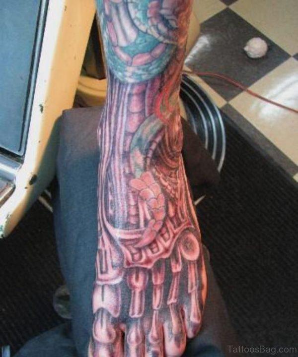 Outstanding Biomechanical Tattoo