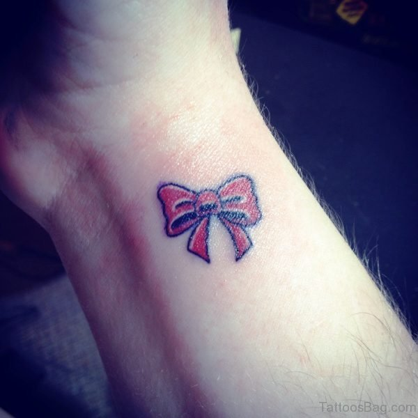 Outstanding Bow Tattoo On Wrist