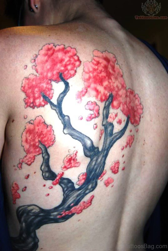 Outstanding Cherry Blossom Tree Tattoo Design
