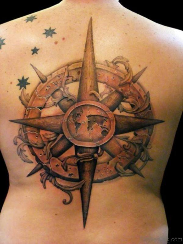 Outstanding Compass Tattoo Design